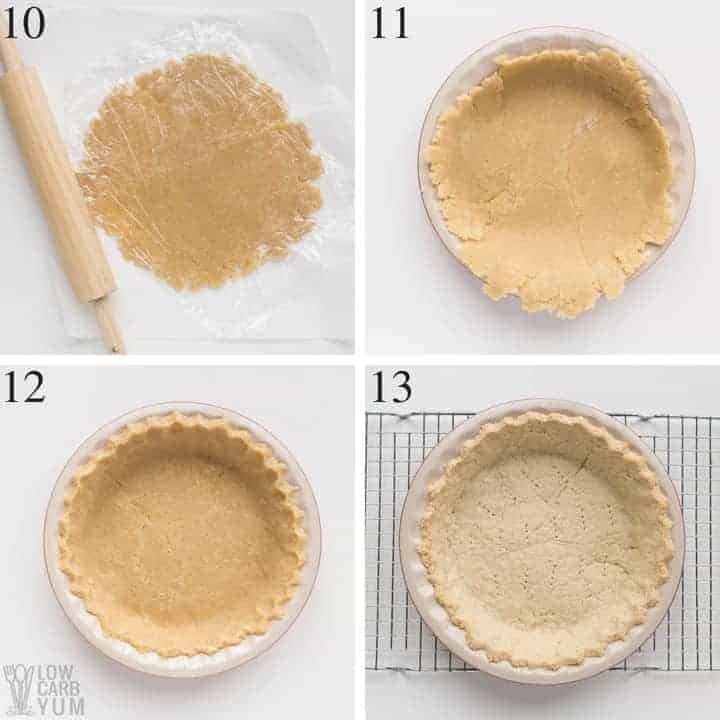 Rolling out an almond flour pie crust recipe