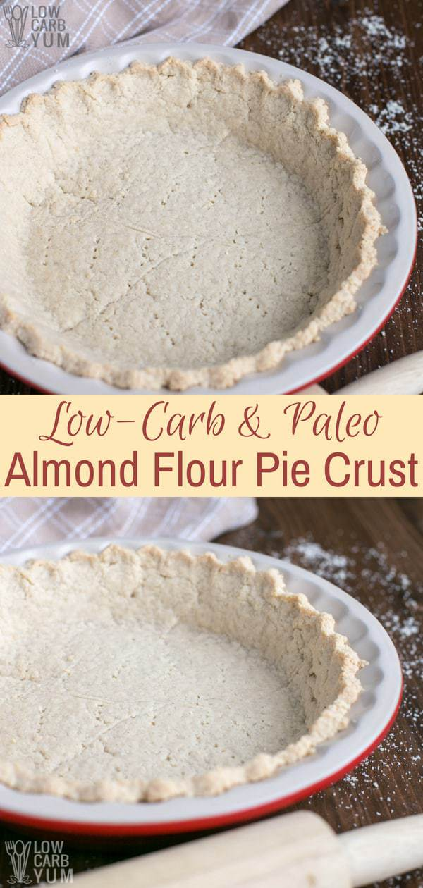 Low Carb Gluten Free Almond Flour Pie Crust