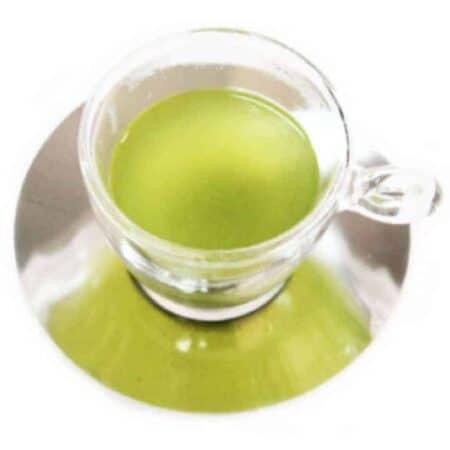 Cup of matcha green tea