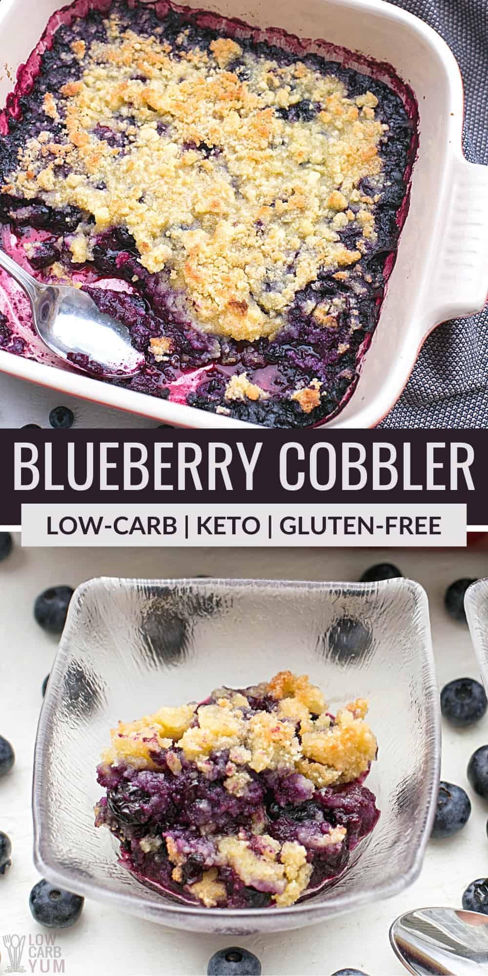 keto blueberry cobbler pinterest image