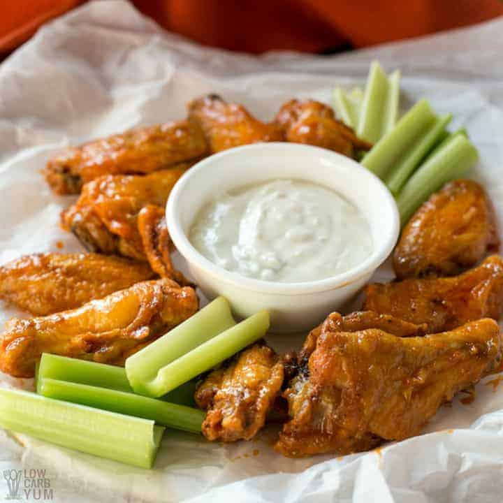 Easy Buffalo air fryer chicken wings recipe