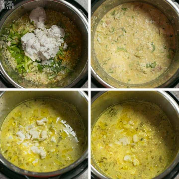 How to make a low carb chicken cabbage curry soup in the Instant Pot