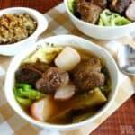 Easy vegetable beef soup recipe