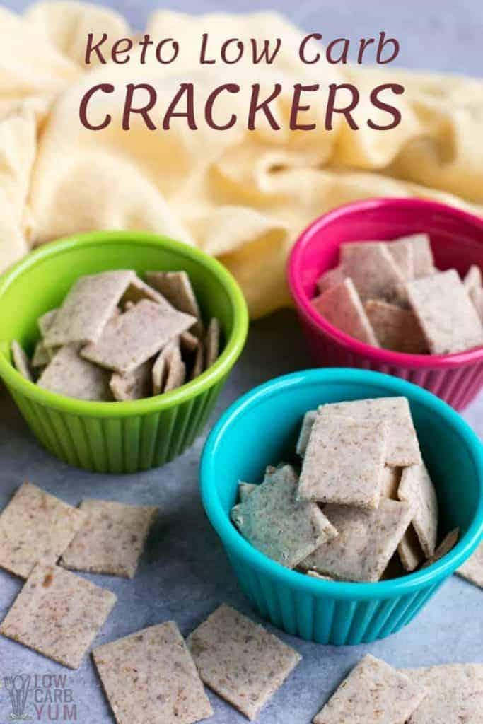 Keto low carb crackers recipe with no egg