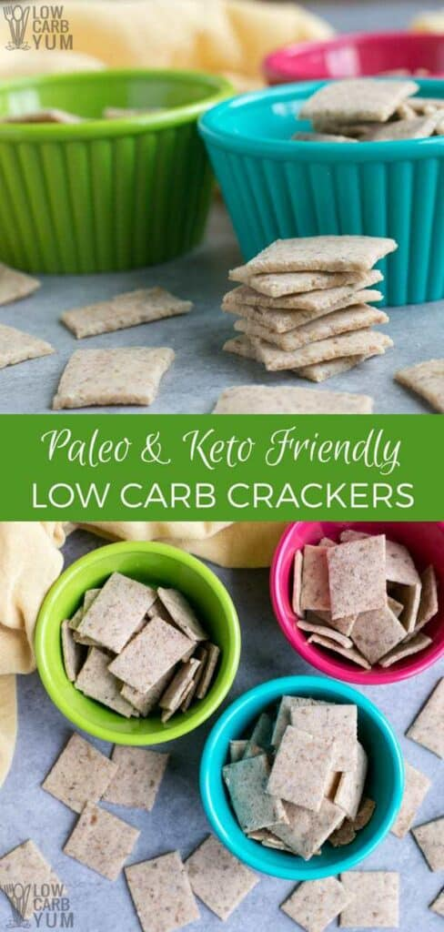 Keto low carb crackers recipe