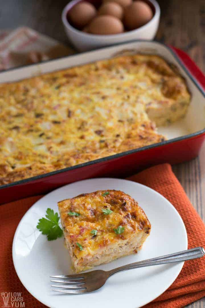 An easy low carb breakfast casserole recipe