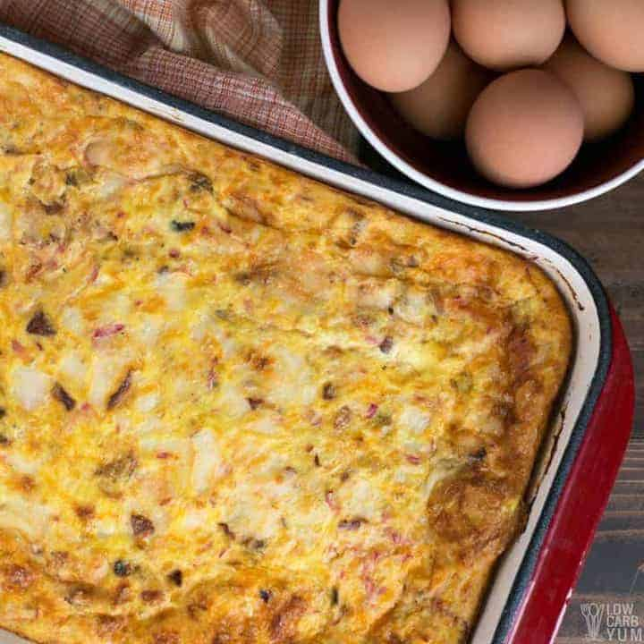 How to make a low carb breakfast casserole