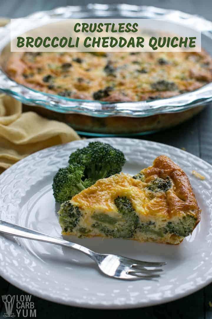 Easy crustless broccoli cheddar quiche recipe