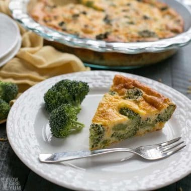 Healthy Crustless Broccoli Cheddar Quiche Recipe