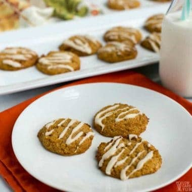 Dairy free gluten free pumpkin cookies without eggs