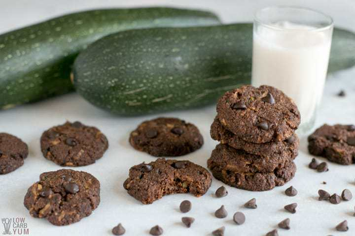 Bite of healthy chocolate zucchini cookies