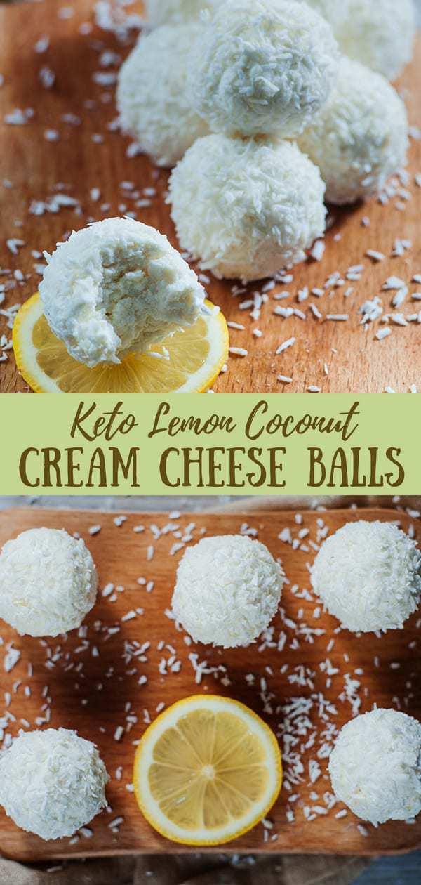 Keto lemon coconut cream cheese balls recipe