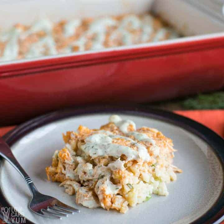 Low carb paleo buffalo chicken casserole recipe