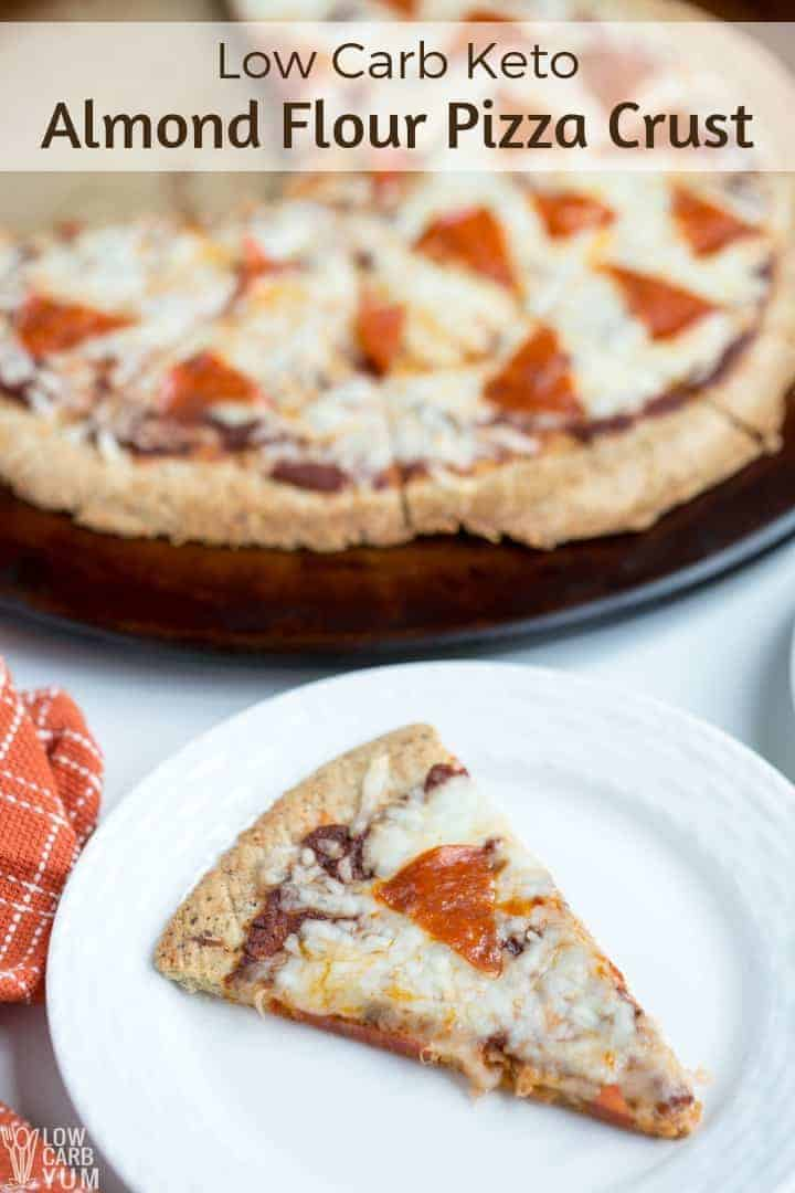 Low carb keto almond flour pizza crust
