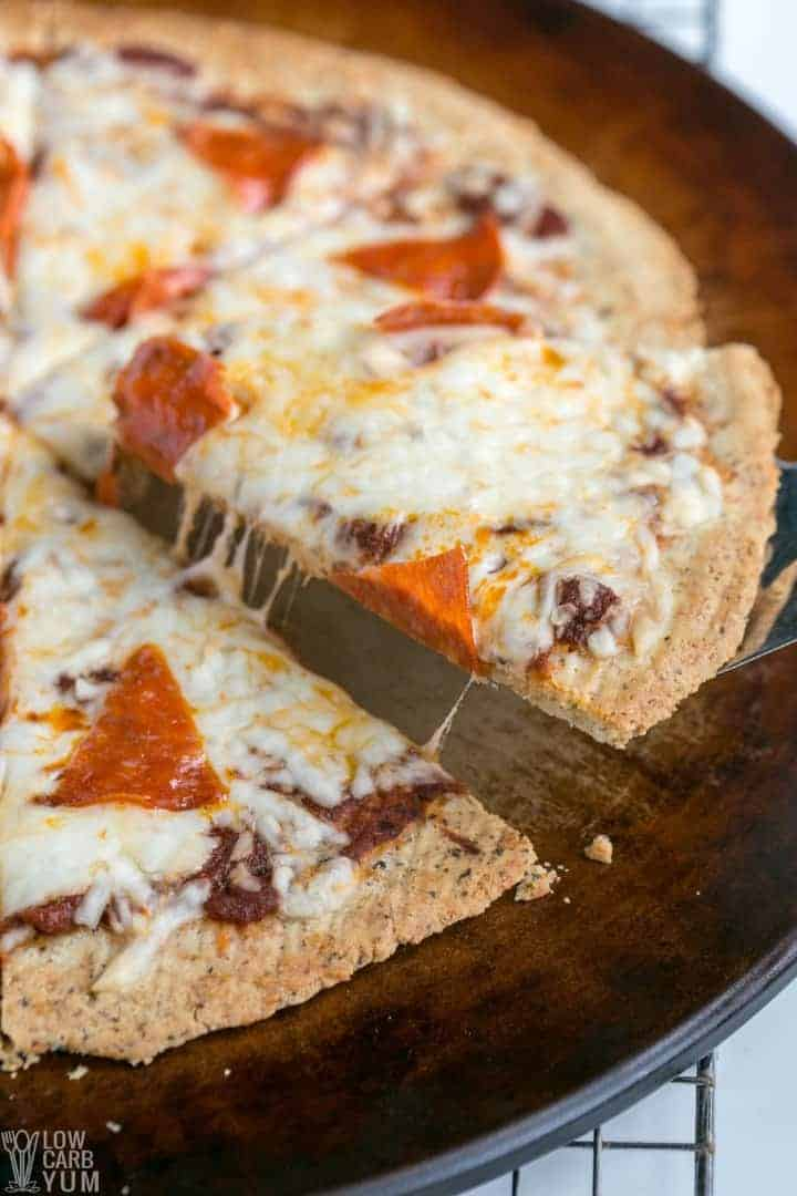 Homemade almond flour pizza crust
