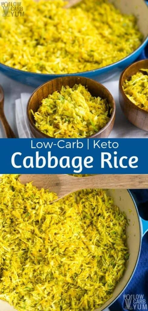 Low carb keto cabbage rice recipe
