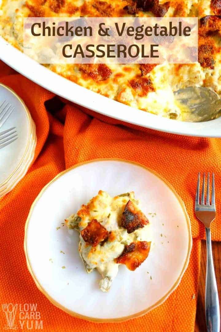 Cheesy healthy chicken vegetable casserole recipe