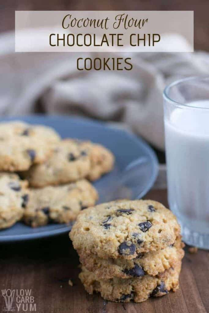 Low carb coconut flour chocolate chip cookies recipe