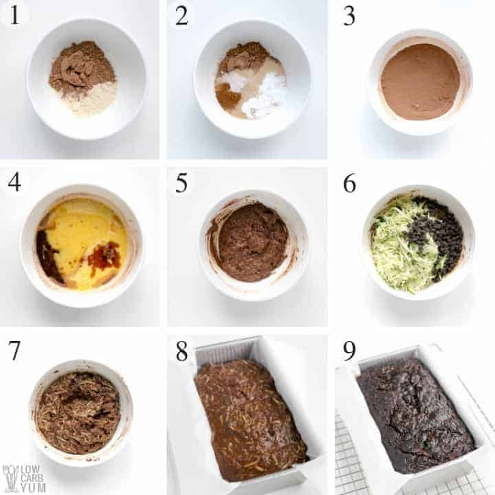 How to make a gluten free low carb chocolate zucchini bread