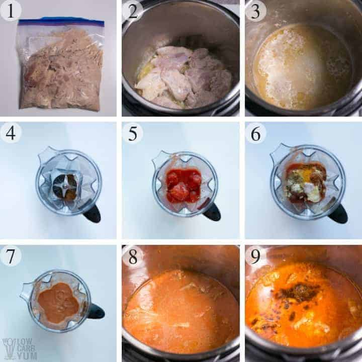 How to make pressure cooker Instant Pot butter chicken