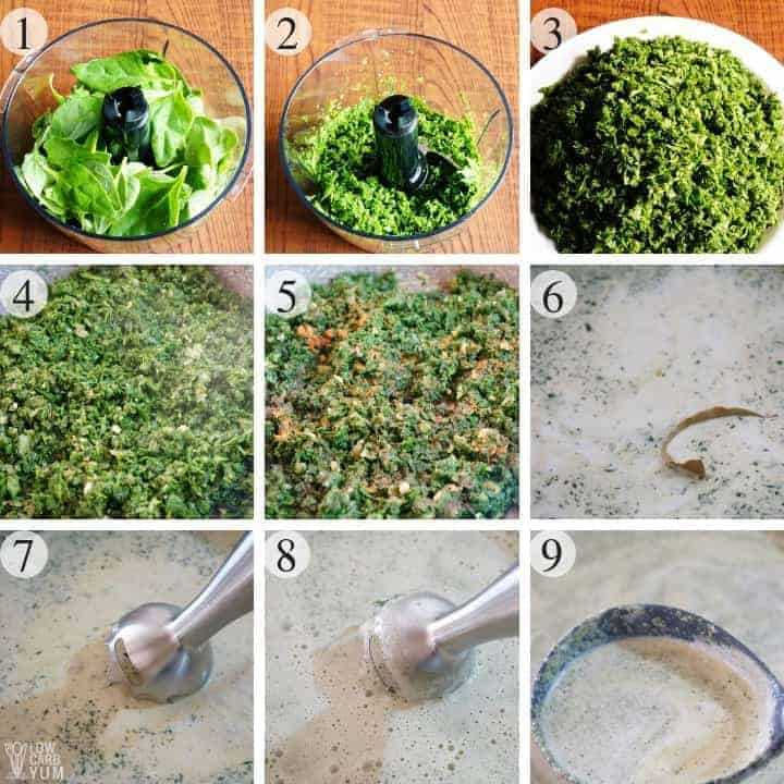 How to make palak soup or Indian spinach soup