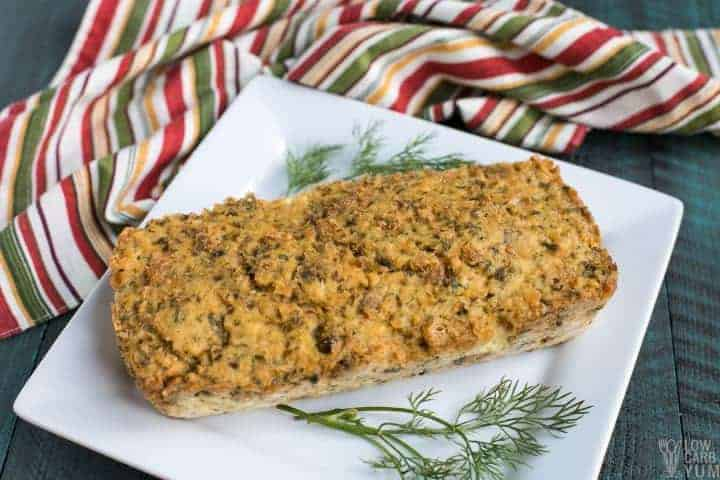 Baked salmon loaf with canned meat