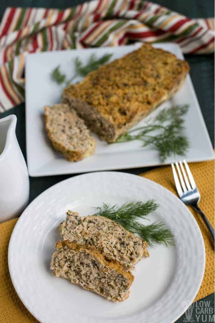 Sliced salmon loaf
