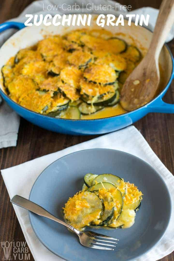 Cheesy zucchini gratin for low carb keto