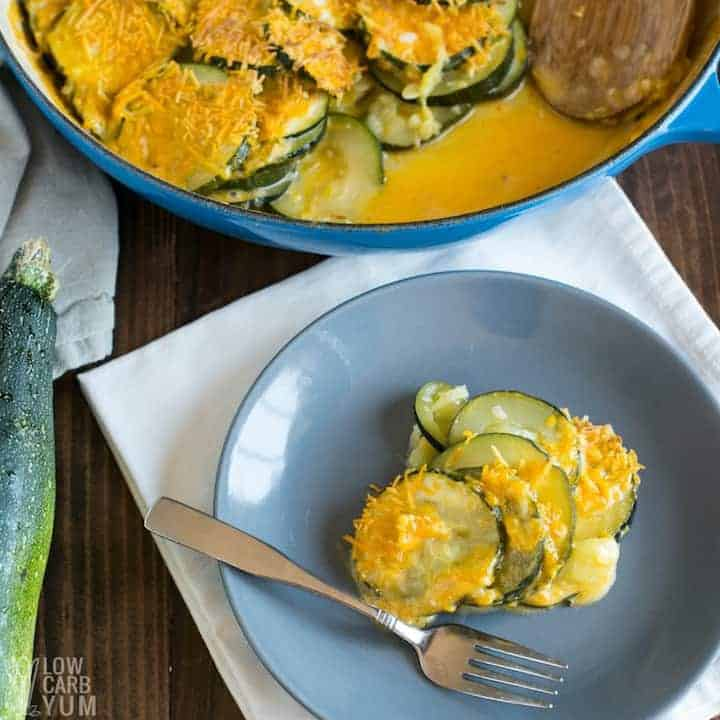 Easy zucchini au gratin recipe