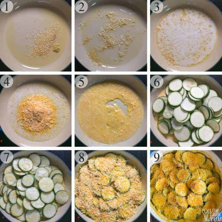 How to make a cheesy zucchini gratin