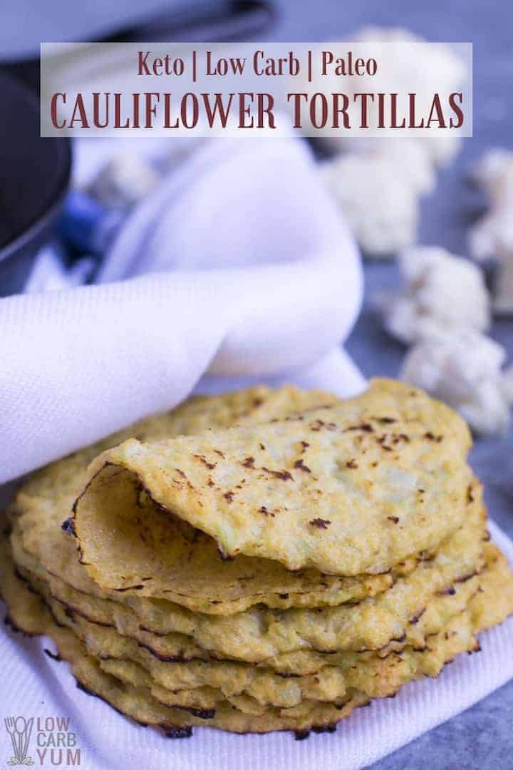 Low carb keto cauliflower tortillas recipe