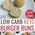 easy keto hamburger buns or bread rolls