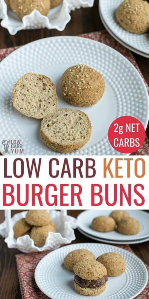easy keto hamburger buns or bread rolls