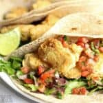 Fish tacos in low carb tortillas