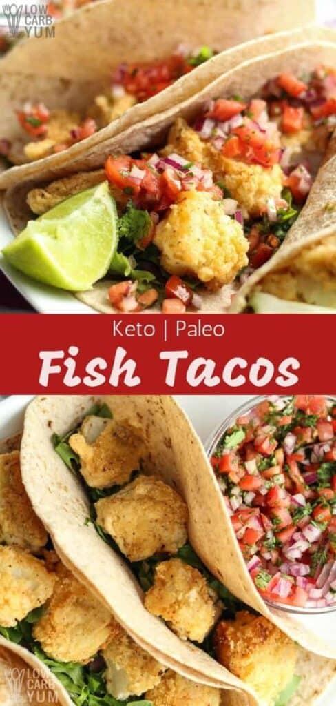 Keto paleo fish tacos