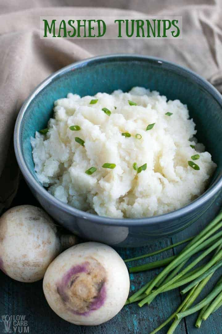 Keto low carb mashed turnips