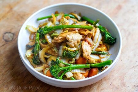 chicken cabbage stir fry horizontal image