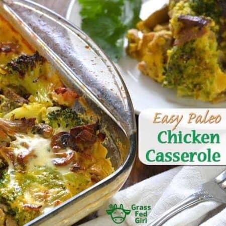 easy paleo keto chicken casserole horizontal image