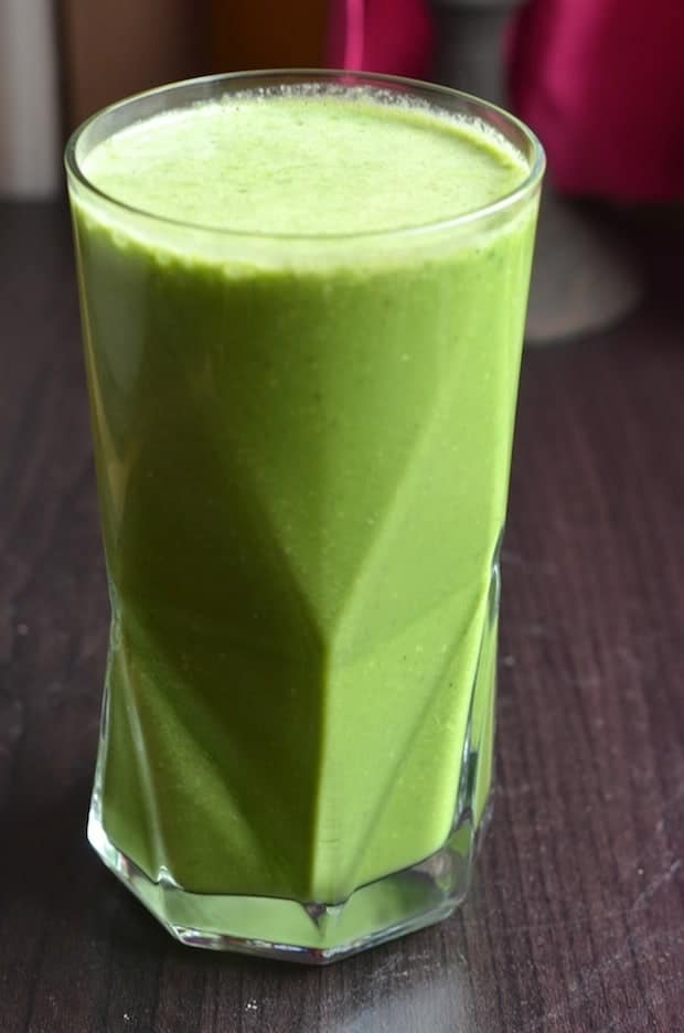 Kale Coconut Shake in tall glass