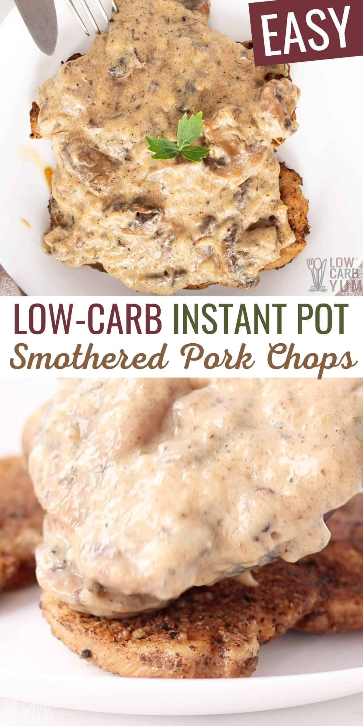 Low-Carb Instant Pot Smothered Pork Chops