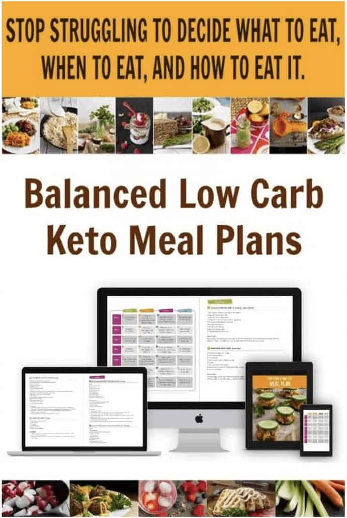 Text Balanced Low Carb Keto Meal Plans