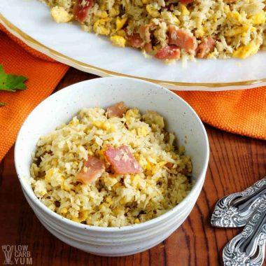 Filipino garlic cauliflower rice sinangag recipe