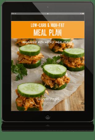 healthful pursuits keto meal plans on iPad display
