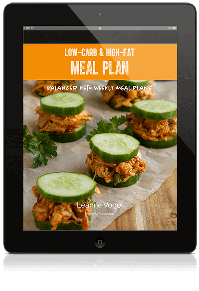 Low Carb and High Fat Meal Plan E-Book