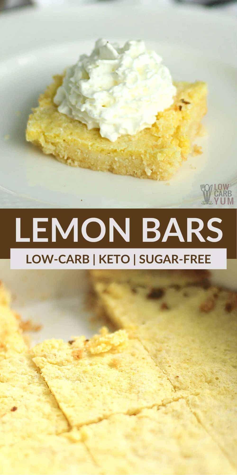keto lemon bars pinterest image
