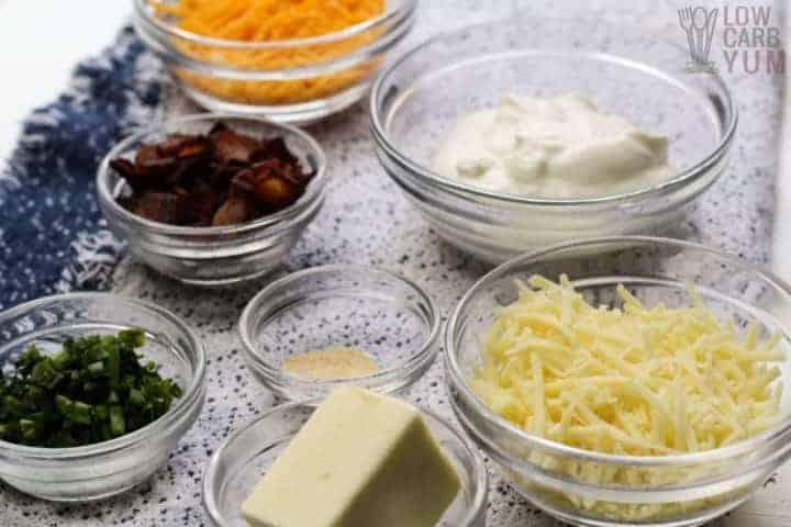 ingredients for loaded cauliflower casserole