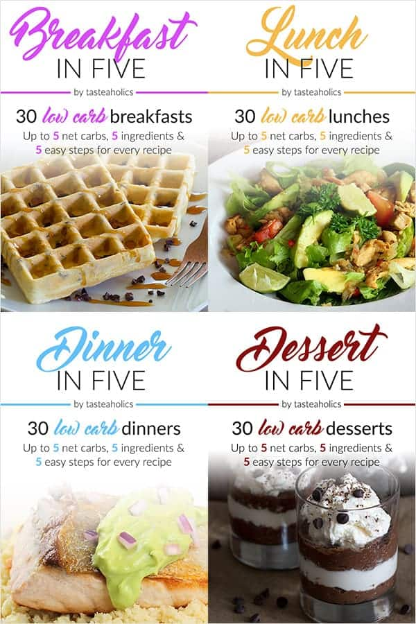 Advertisement for quick 5 minute meals or desserts