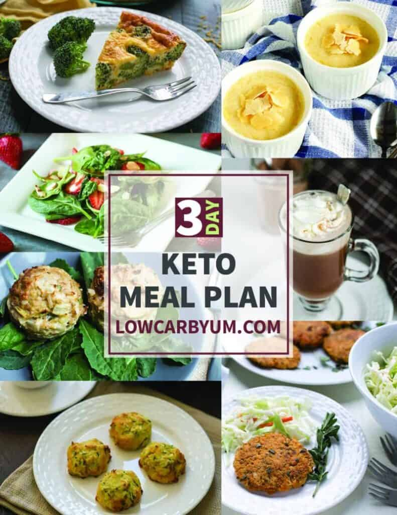 TEXT 3 Day Keto Meal Plan LOWCARBYUM.COM