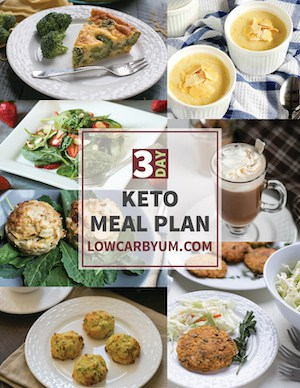 3 Day Keto Meal Plan Printable