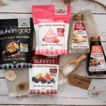 Sukrin zero calorie sweeteners and fiber syrup
